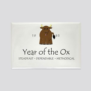 """Year of the Ox"" [1985] Rectangle Magnet"